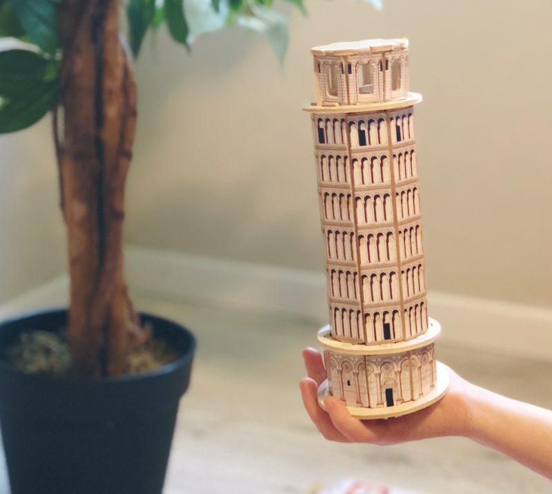 פאזל תלת מימד עץ מגדל פיזה