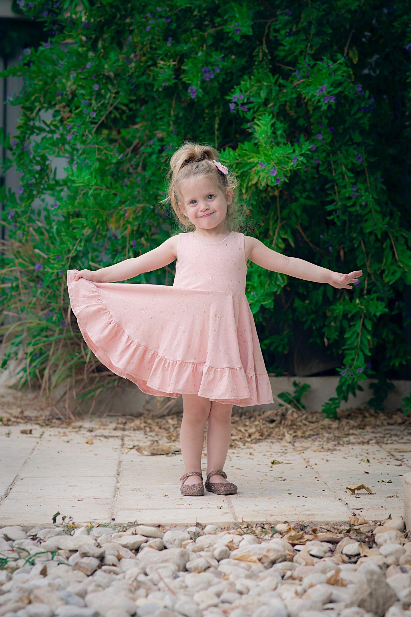 שמלה מסתובבת לילדות עלמונת איה ויצנר