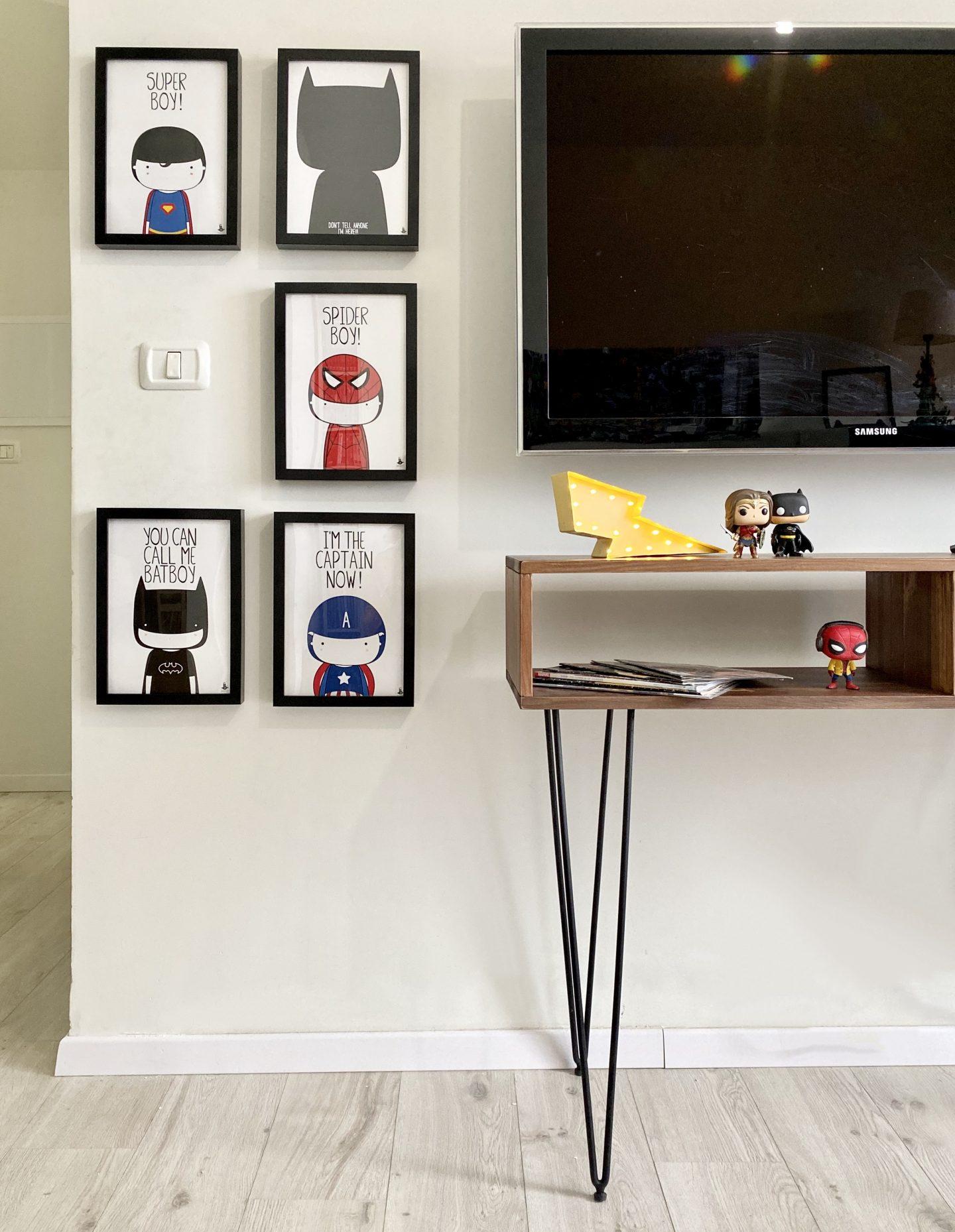קונסולה קואלה רהיטים פוסטרים בנדיט חדר גיבורי על