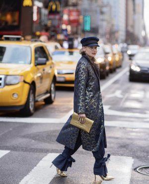 שירי ויצנר לובשת לארה רוסנובסקי, שבוע האופנה של ניו יורק