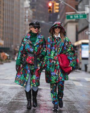 שירי ויצנר ואורנה חיות בשבוע האופנה של ניו יורק מנהטן לובשות לארה רוסנובסקי