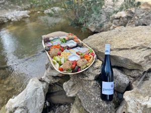יין וסלסלת פיקניק באגם הנעלם