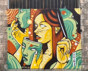 סיור אמנות רחוב ציור קיר תלפיות חיפה: גרפיטי שירה, ציורים made in haifa