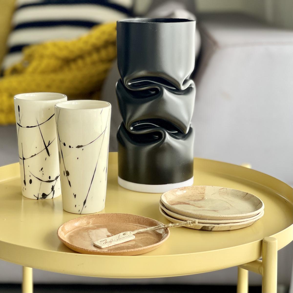 אגרטל כוסות וצלחות עיצוב ישראלי